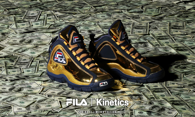 "Kinetics x FILA 96GL ""Metallic"" 独家限量鞋款"