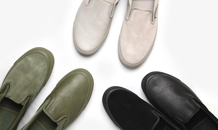 左右脚不同的质感,VAULT by VANS for ENGINEERED GARMENTS 合作鞋款