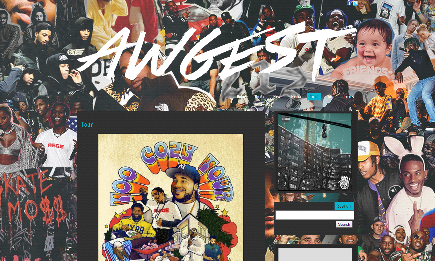 八月 AWGEST ,是你看错还是 A$AP Rocky 拼错?