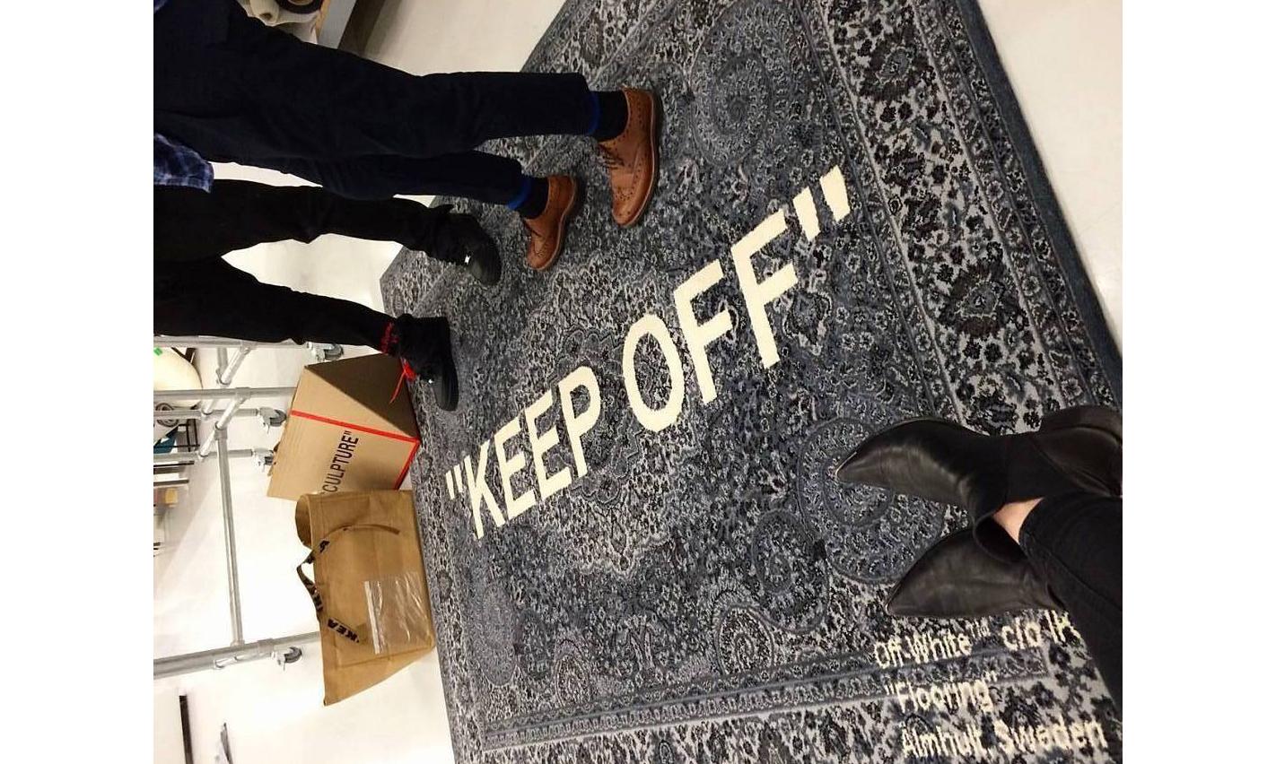 OFF-WHITE x IKEA 联名地毯原来是这样的