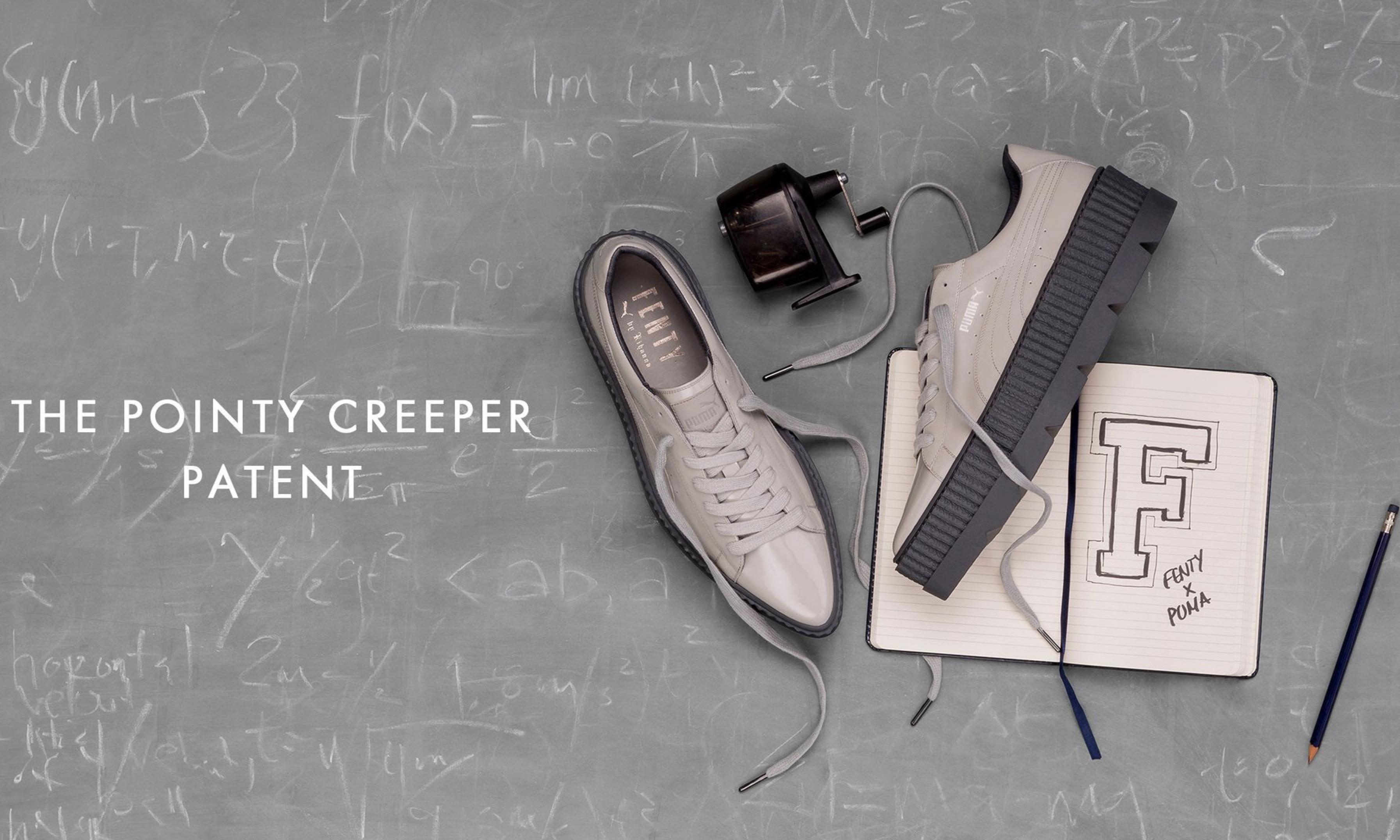 FENTY PUMA 经典 Creeper 推出尖头漆皮款