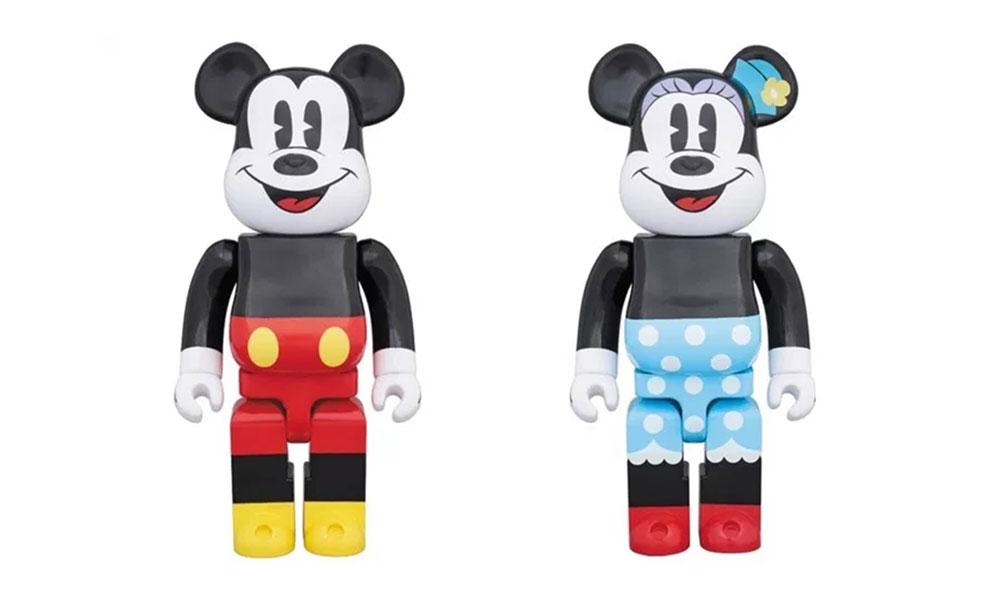 MEDICOM TOY x Mickey Mouse 联乘 BE@RBRICK 玩偶释出