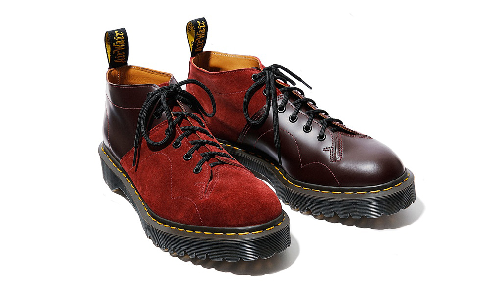 Engineered Garments x Dr. Martens 联名 Monkey Boot 鞋款