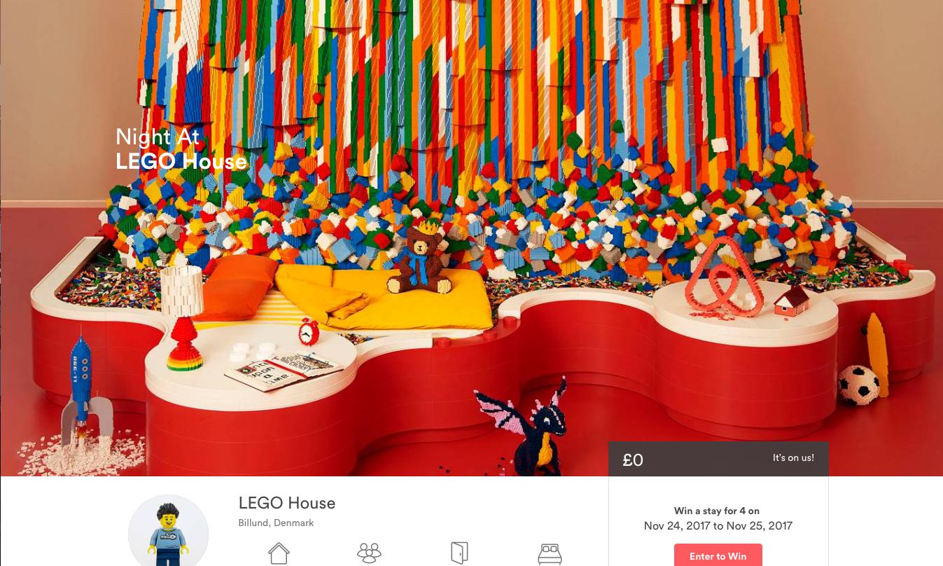 通过 Airbnb 竟然能入住 LEGO 打造的房屋