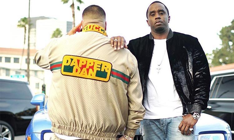 DJ Khaled 上身 Dapper Dan x Gucci 定制版 Track Suit