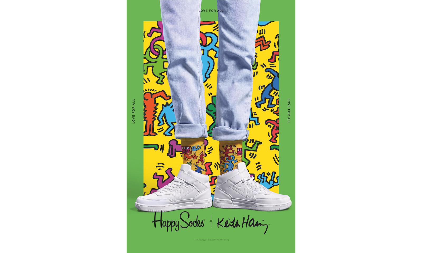 Happy Socks x Keith Haring 发布情人节系列袜款