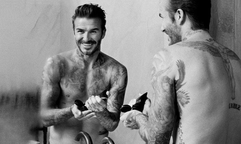 半裸出镜,David Beckham 男士美容品牌 House 99 亮相