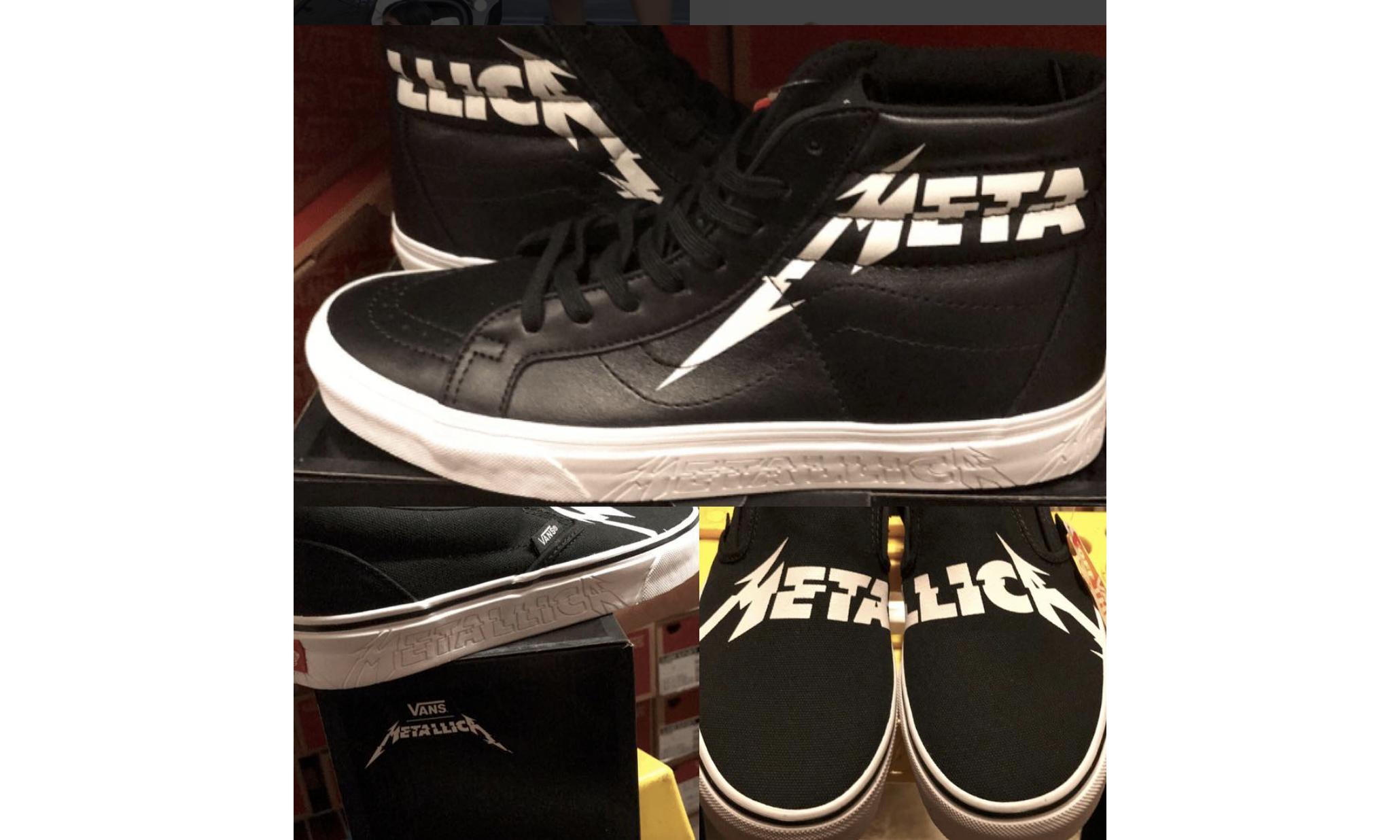 Vans × Metallica 联名鞋款谍照曝光