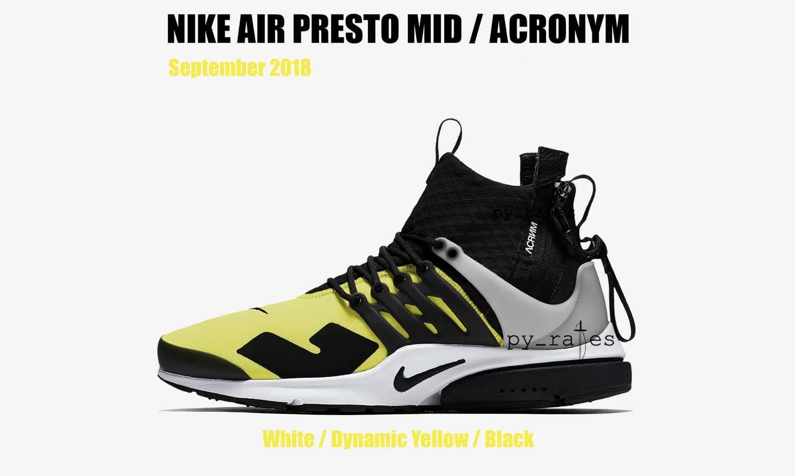 ACRONYM® x NikeLab 或将于 9 月再次发售新配色 Air Presto Mid