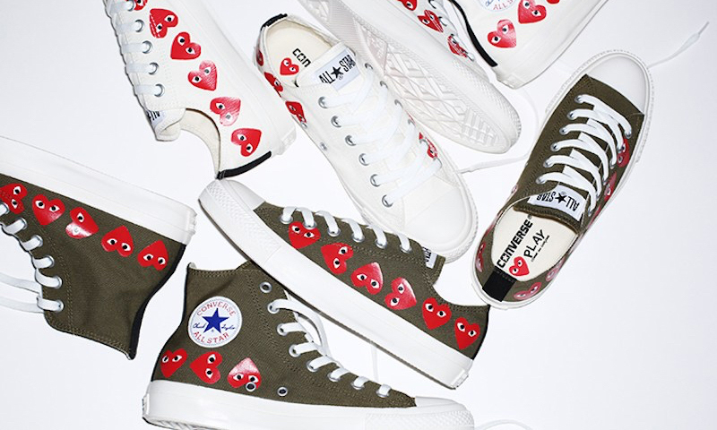 """串标 """"爱心眼"""",COMME des GARÇONS PLAY x CONVERSE 全新鞋款来了"""