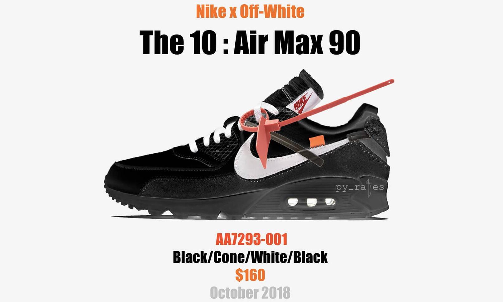 Virgil Abloh x NikeLab 2018 款 Air Max 90 联名模拟图曝光