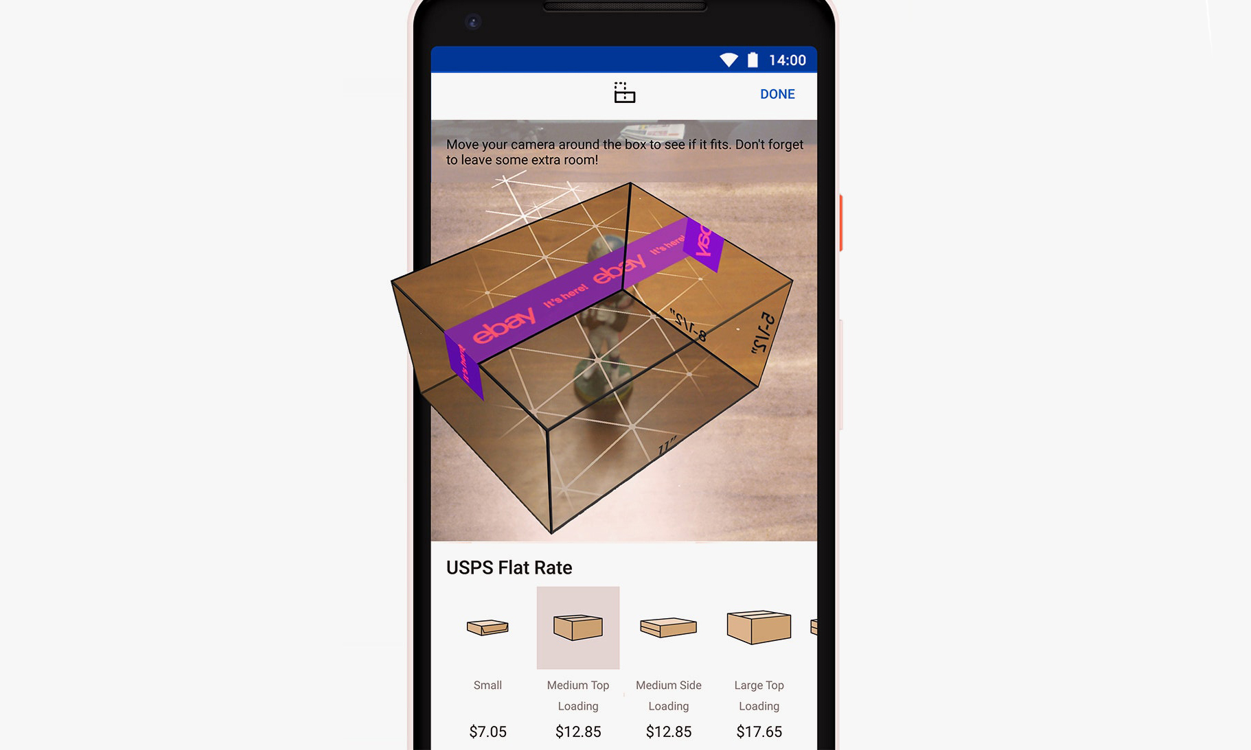 eBay 的最新 AR 服务,帮你挑到最合适 Size 的快递箱