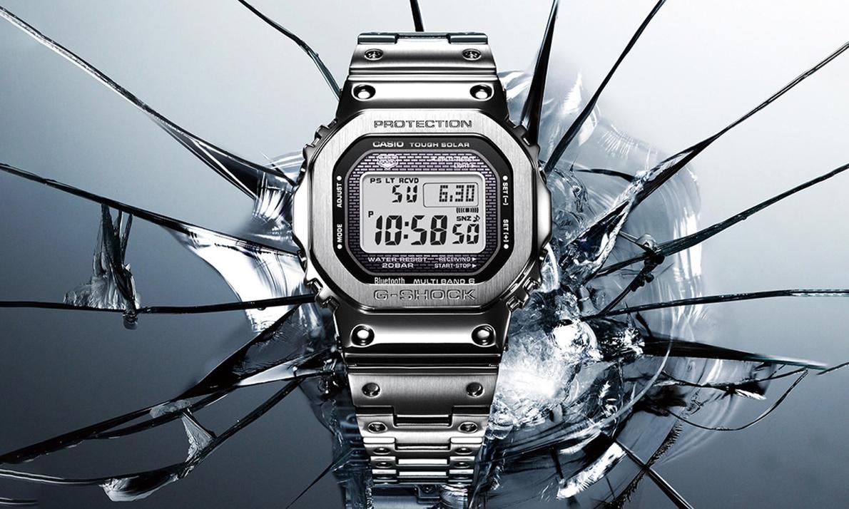 G-Shock 打造不锈钢金属外壳 DW-5000