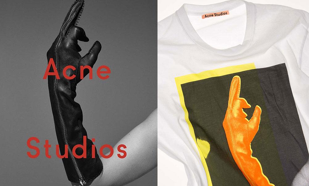 Acne Studios 推出复古图案 T-Shirt ,印花来自 14 年秋冬的宣传图