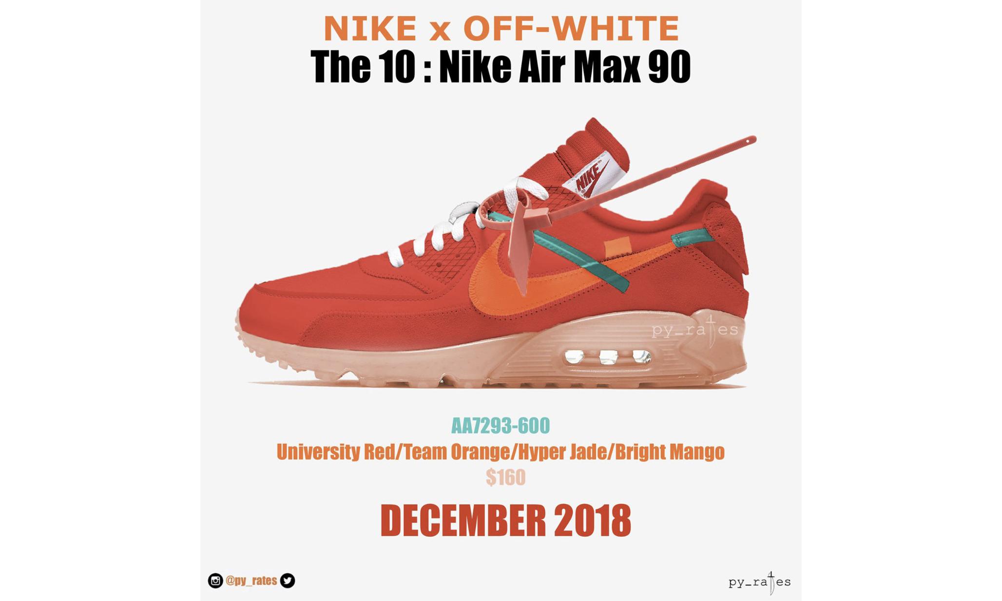 Virgil Abloh x NikeLab Air Max 90 将迎来新配色