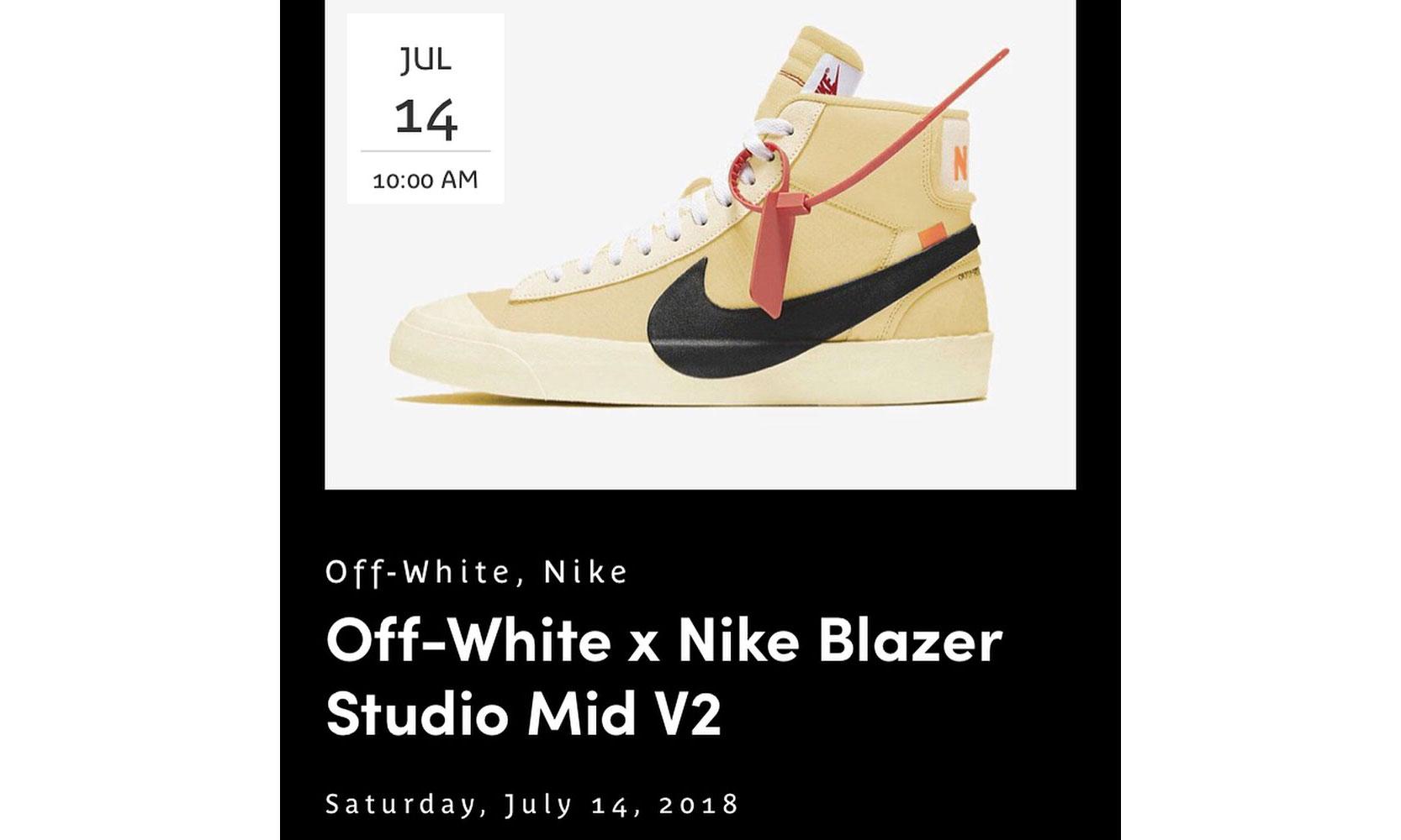 疑似 Virgil Abloh x NikeLab 今年后续联名鞋款发售日期曝光