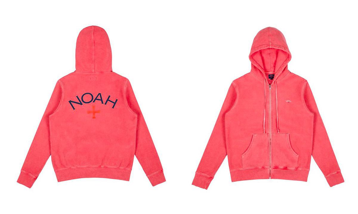 7 种颜色可选,NOAH 2018 春夏连帽衫系列于官网上架
