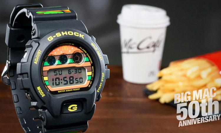 """G-SHOCK 和麦当劳推出了一款 """"巨无霸"""""""