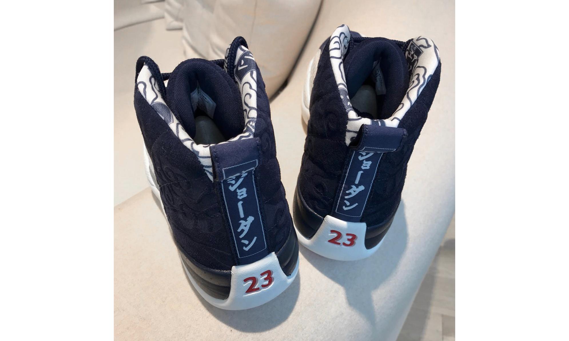 """这双附有日文的 AJ XII,来自于 Air Jordan 的最新 """"International Pack"""" 系列"""