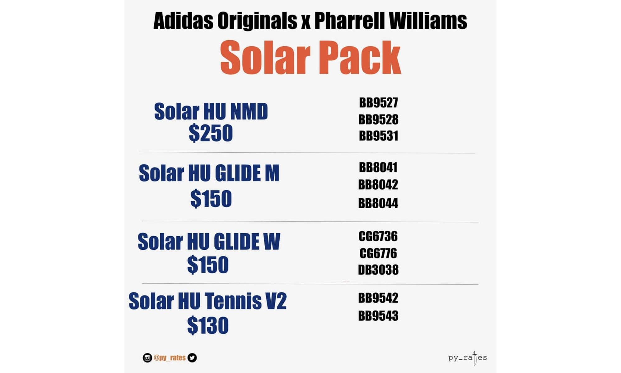 "adidas Originals x Pharrell Williams ""Solar"" 系列即将登场"