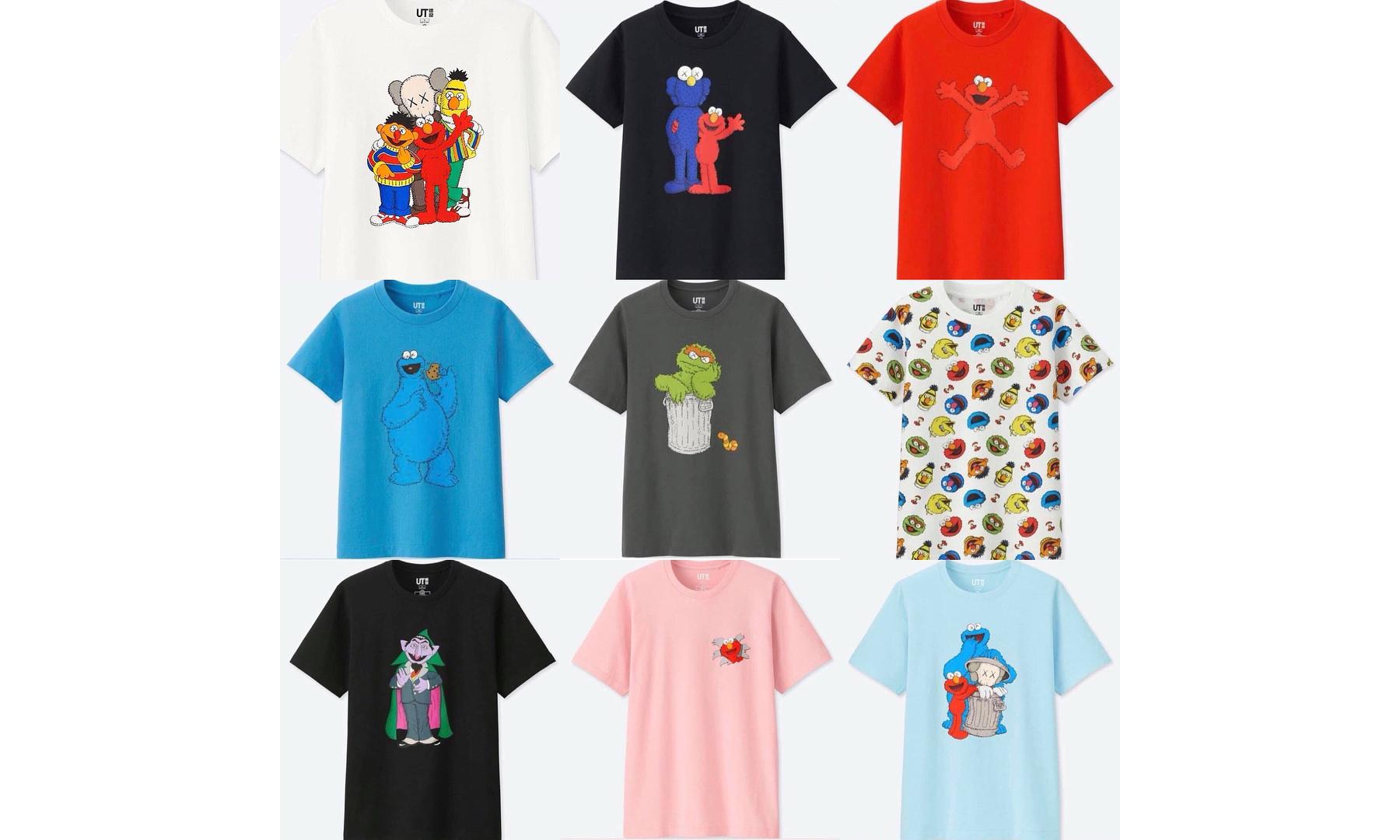 抢先预览 UT x KAWS x 芝麻街联名 T恤系列