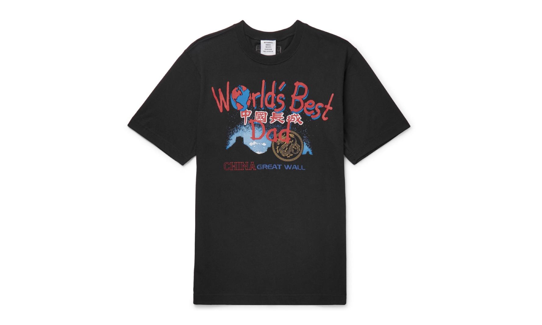 """一件印着 """"中国长城"""" 的 VETEMENTS 旅游衫,售价 180 磅?"""