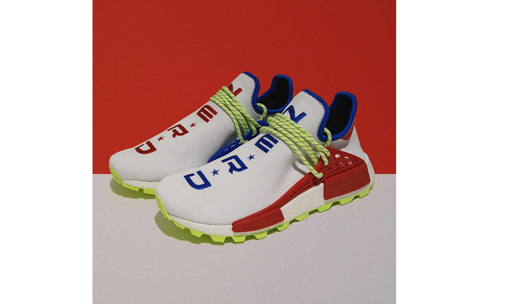 "Pharrell Williams x adidas Originals Hu NMD Trail ""N.E.R.D."" 鸳鸯配色发售信息释出"