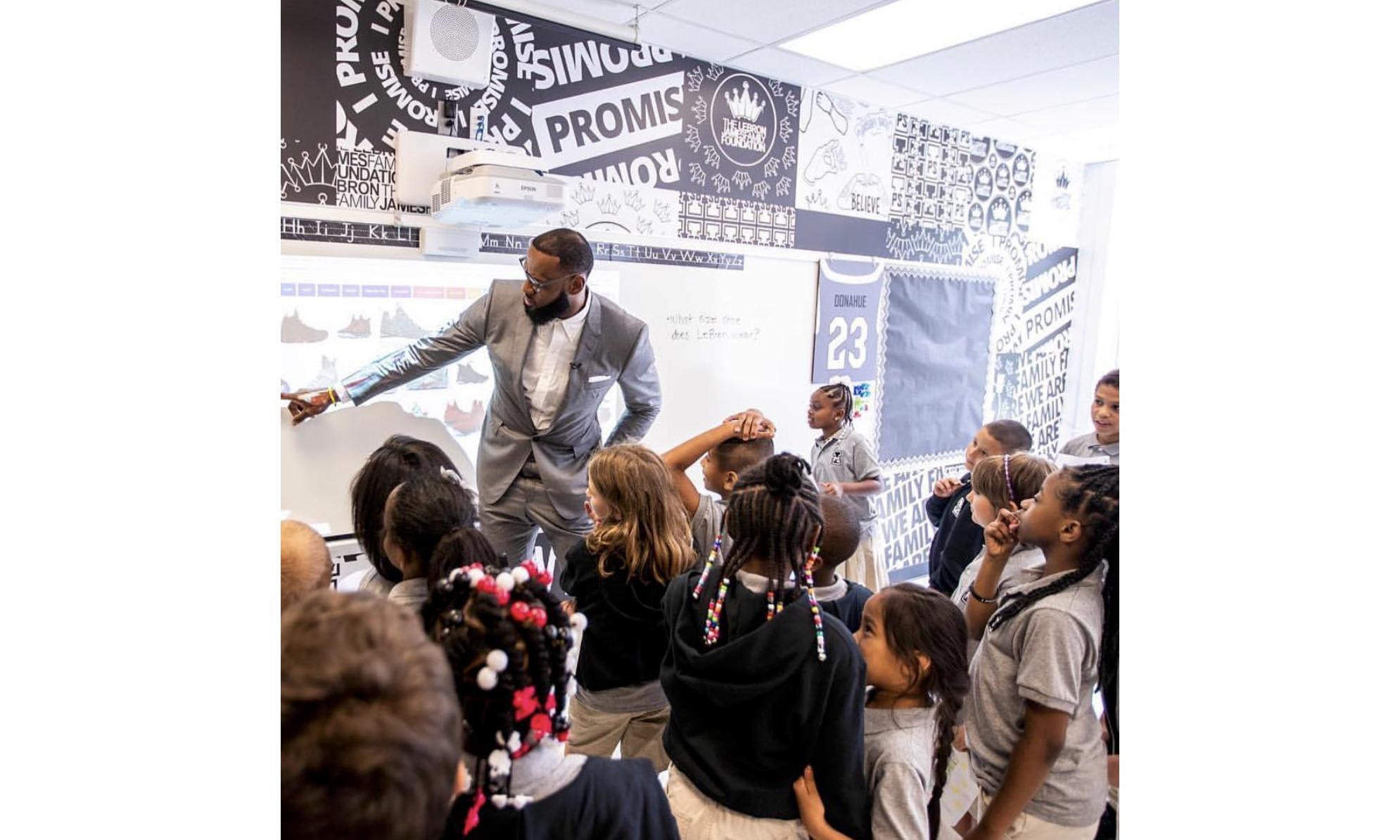 转会之后,LeBron James 还在俄亥俄州开了所学校