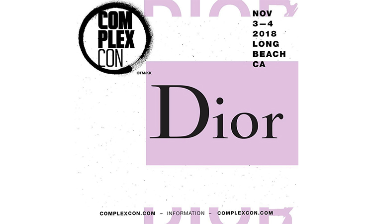 Dior 将在本届 ComplexCon 上亮相