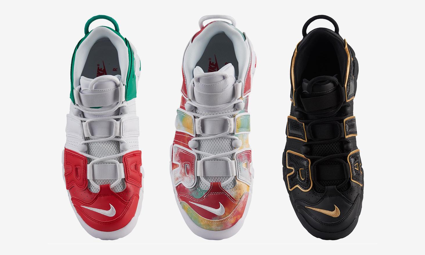 三都会集结,Nike Air More Uptempo 欧洲城市限定配色预览