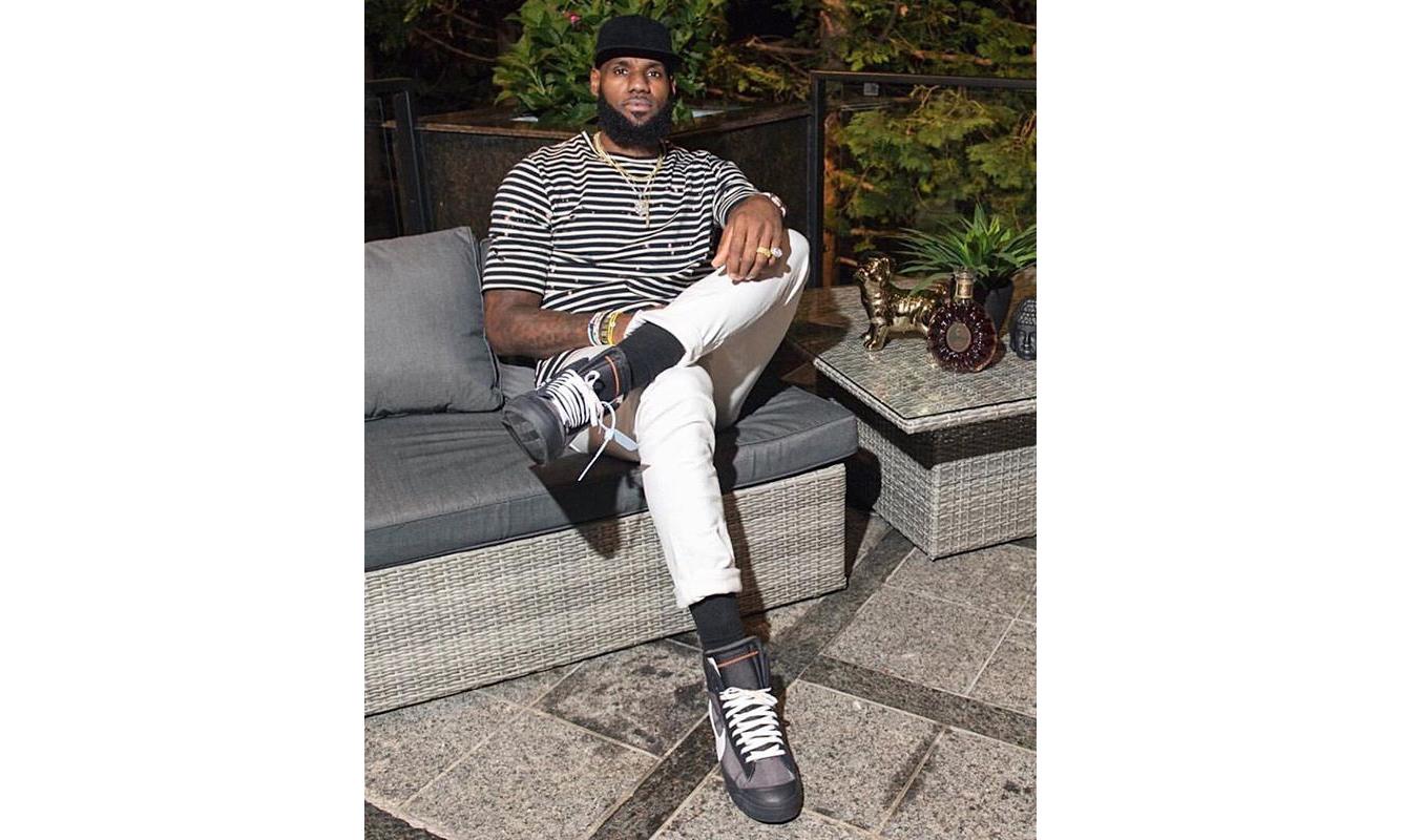 LeBron James 曝光全新 Virgil Abloh x NikeLab Blazer 2.0