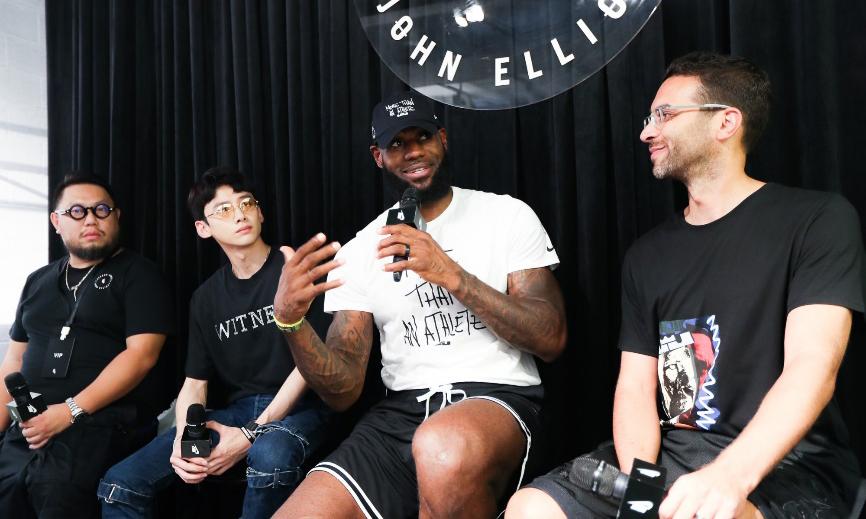 不仅仅是运动员,LeBron James x John Elliott 在上海发布