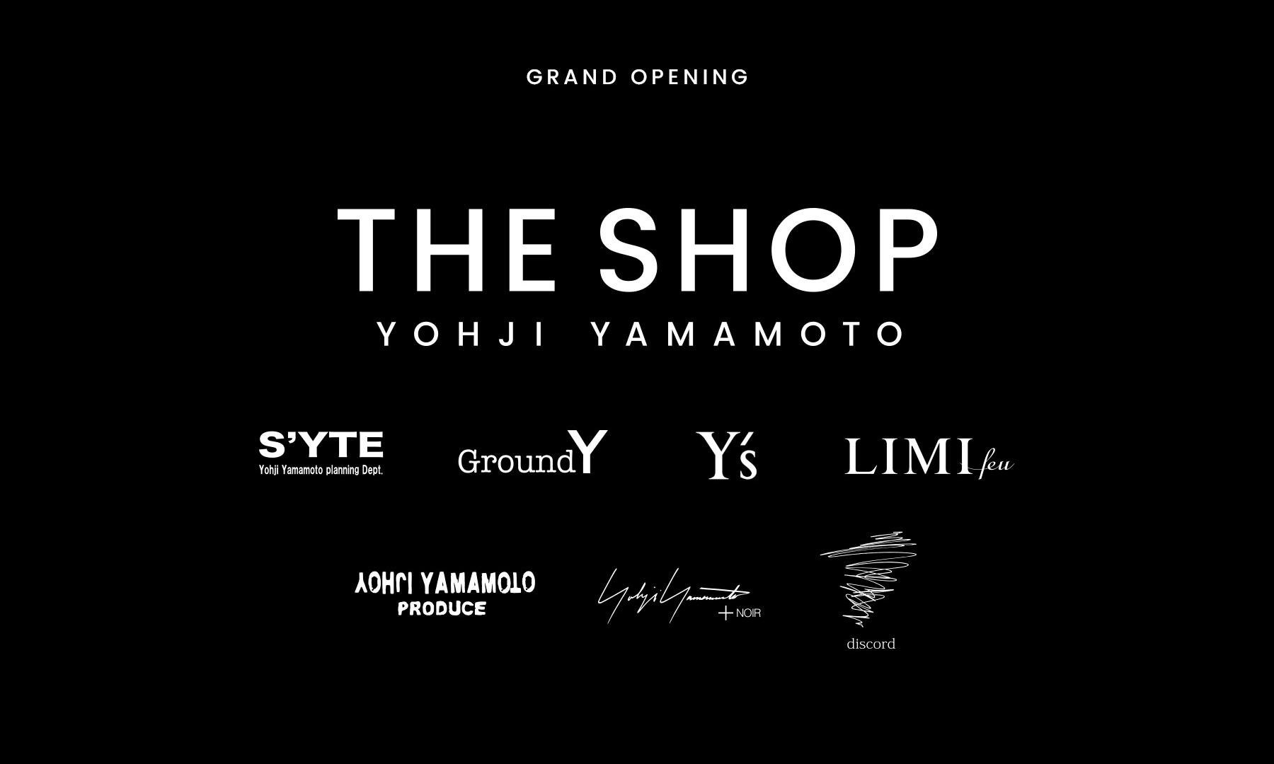 "Yohji Yamamoto Inc. 官方全球电商 ""The Shop"" 上线"