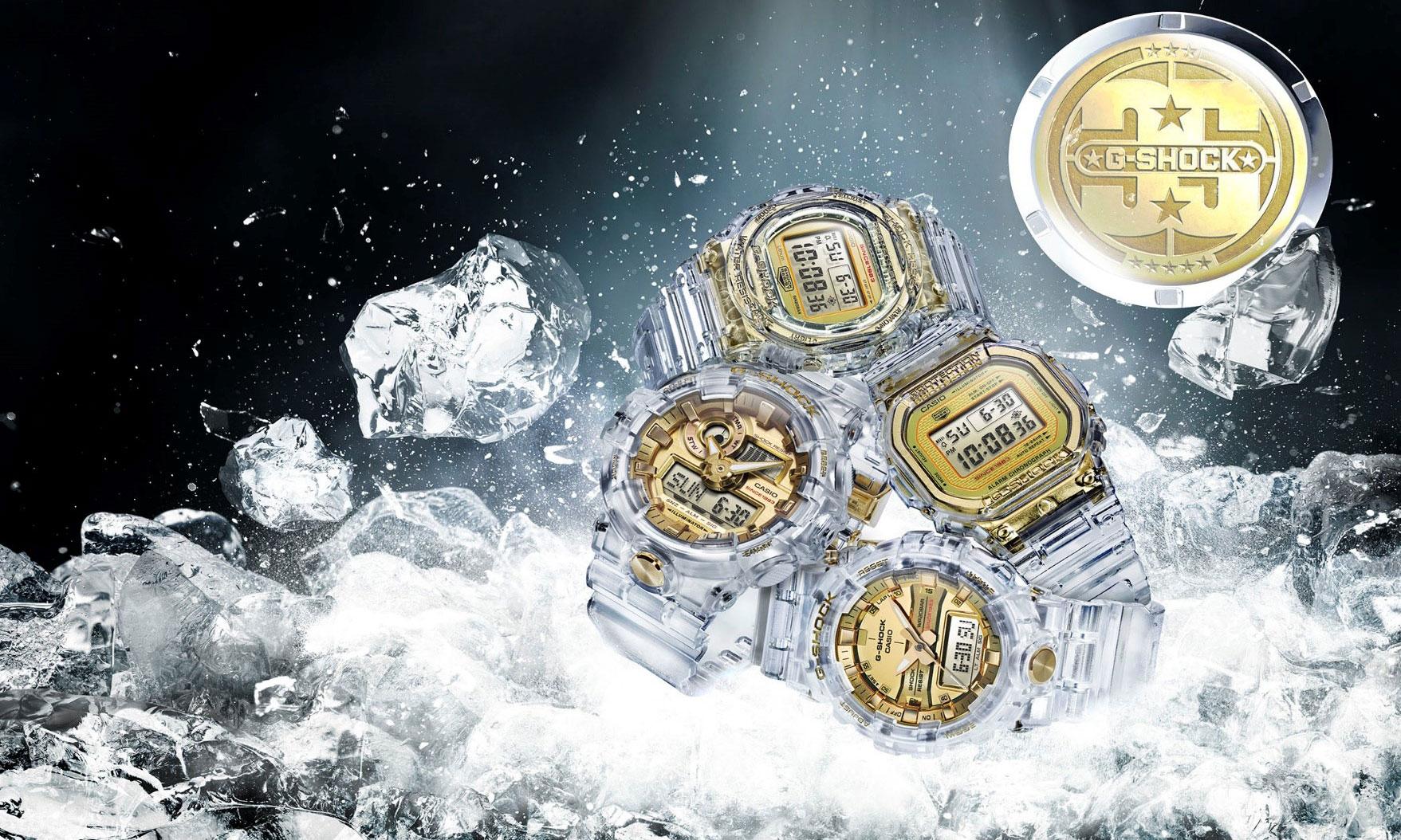 G-SHOCK 35 周年,GLACIER GOLD 冰川金系列耀世登场