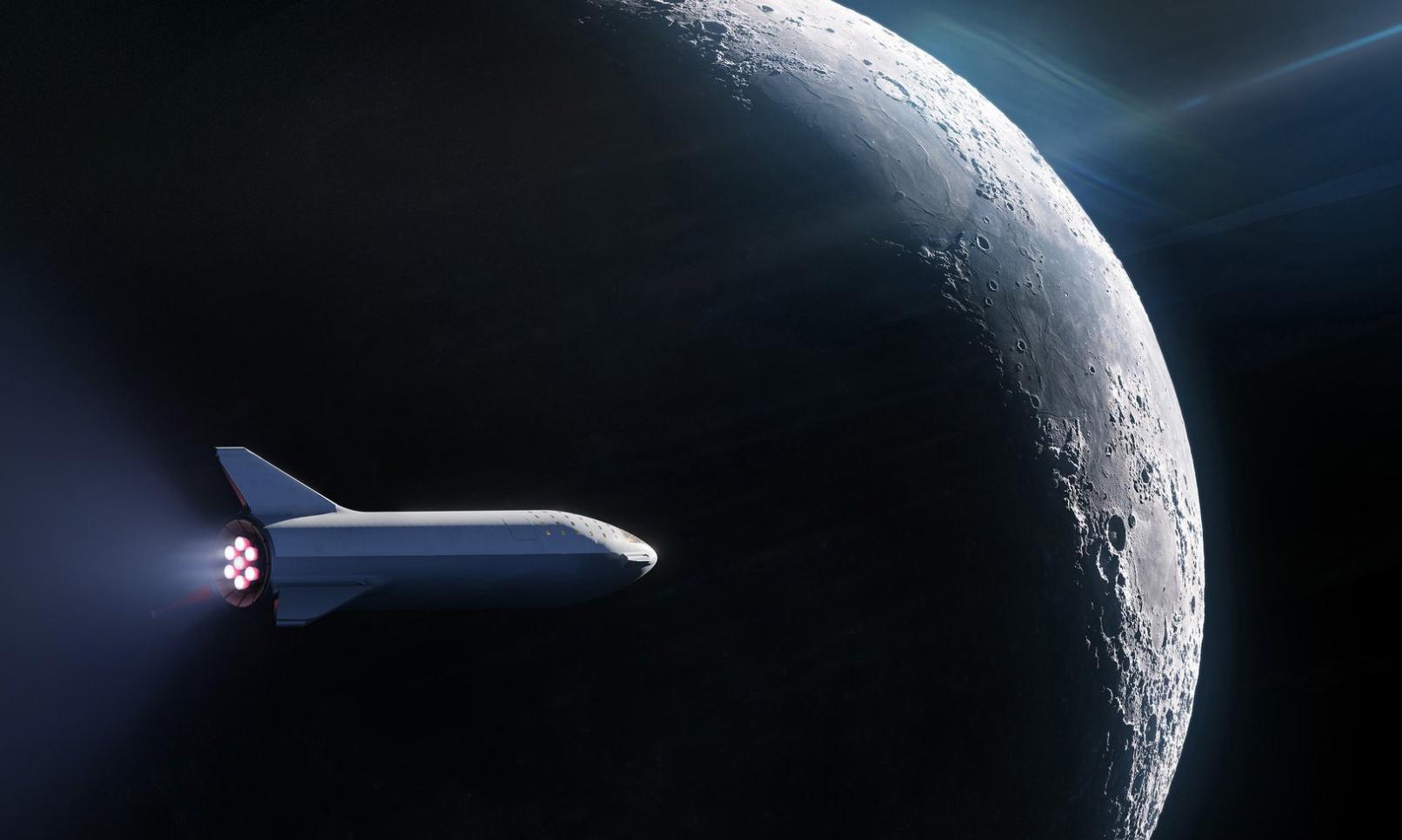 SpaceX 接到世界第一个搭乘 BFR 上月球的旅客订单