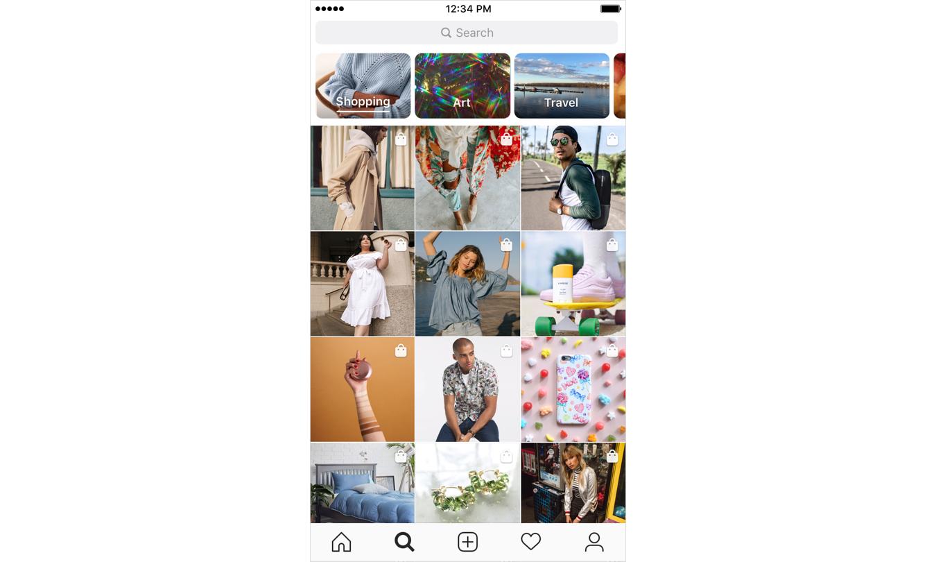 Instagram 的搜索页面将设立专属购物页面