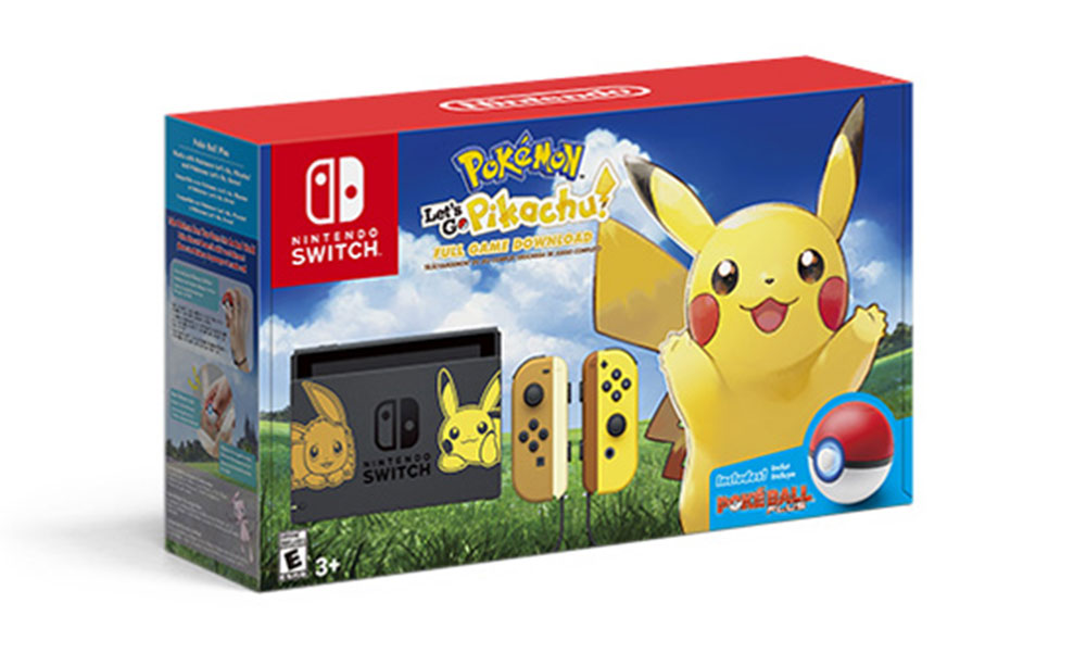 Switch 发布《Pokémon: Let 's Go》特别版主机套装