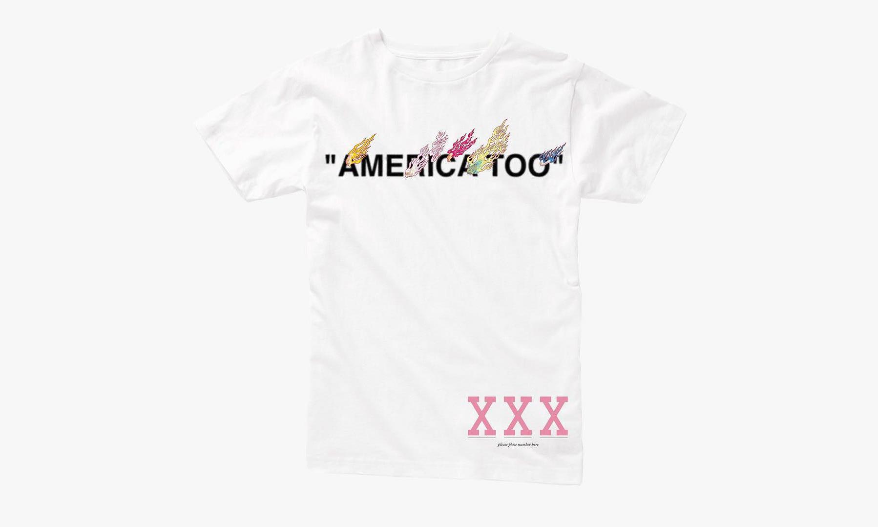 "Virgil Abloh x 村上隆 ""AMERICA TOO"" 展会限定 T恤开售"
