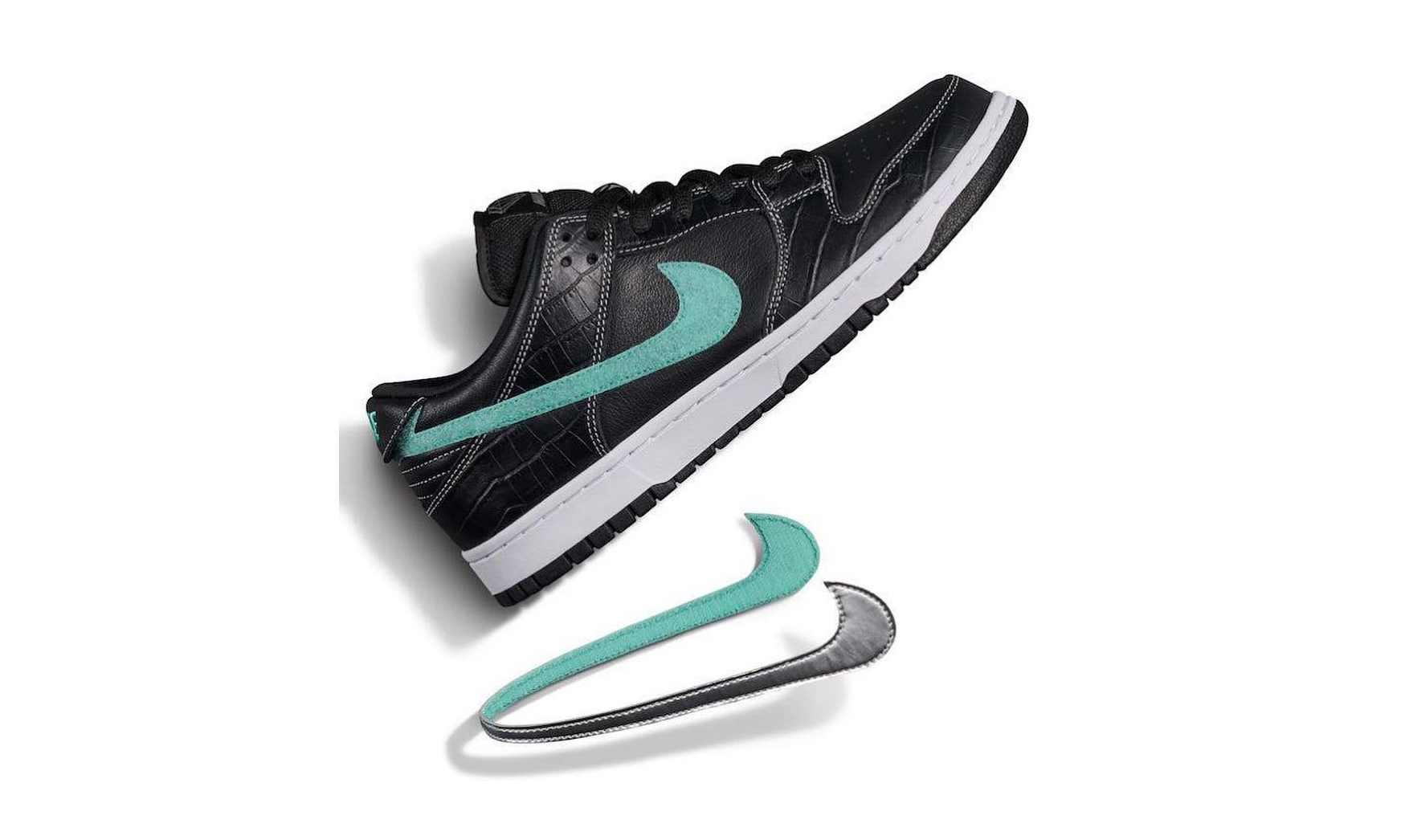 "下周公开发售 ,近赏 Nike SB x Diamond Supply ""Black Diamond"""