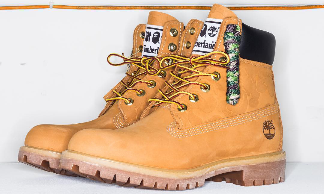 UNDEFEATED x A BATHING APE® x Timberland 三方联名靴即将发售