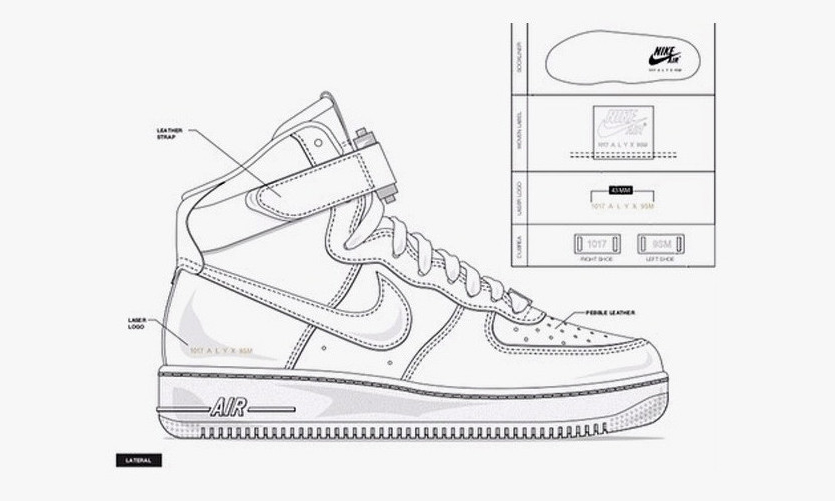 Matthew M. Williams 预告 1017 ALYX 9SM x Nike AF-1 联名细节