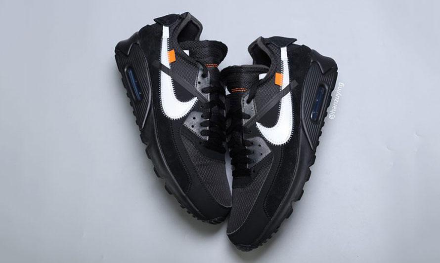 Virgil Abloh x NikeLab Air Max 90 黑色实物图近赏