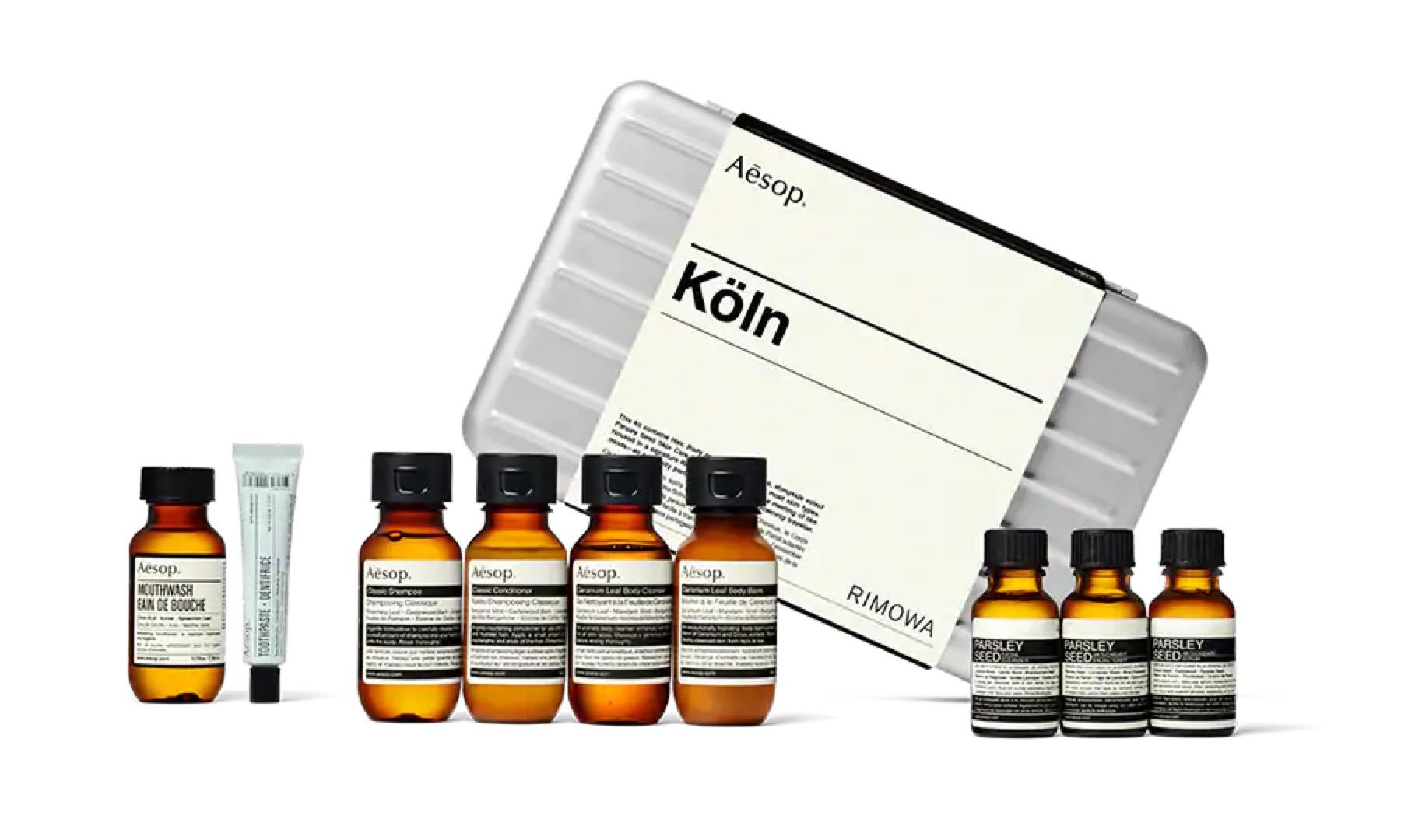 顶级旅行伴侣,RIMOWA x Aesop 联名 Köln Travel Kit 套装即将登场