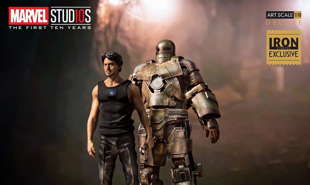 钢铁侠的开始,Iron Studios 推出 Tony Stark & Mark I 1/10 比例全身雕像