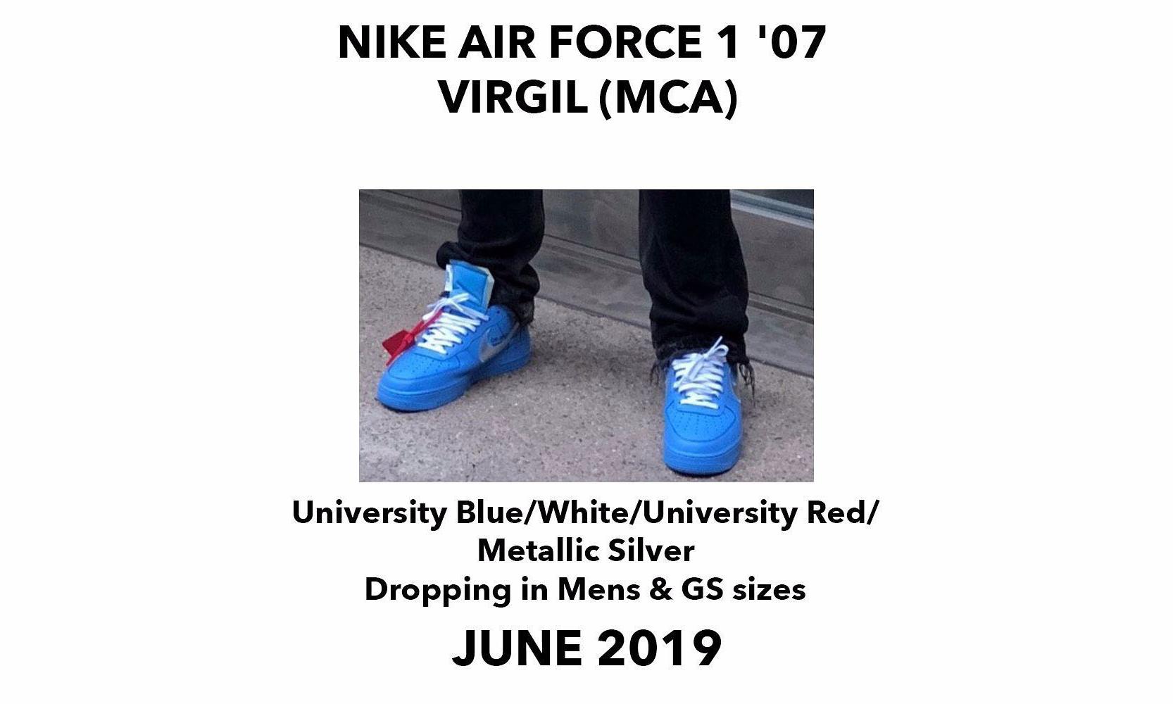原来这双蓝色 AF-1 是 2019 年 Virgil Abloh 的展会限定款