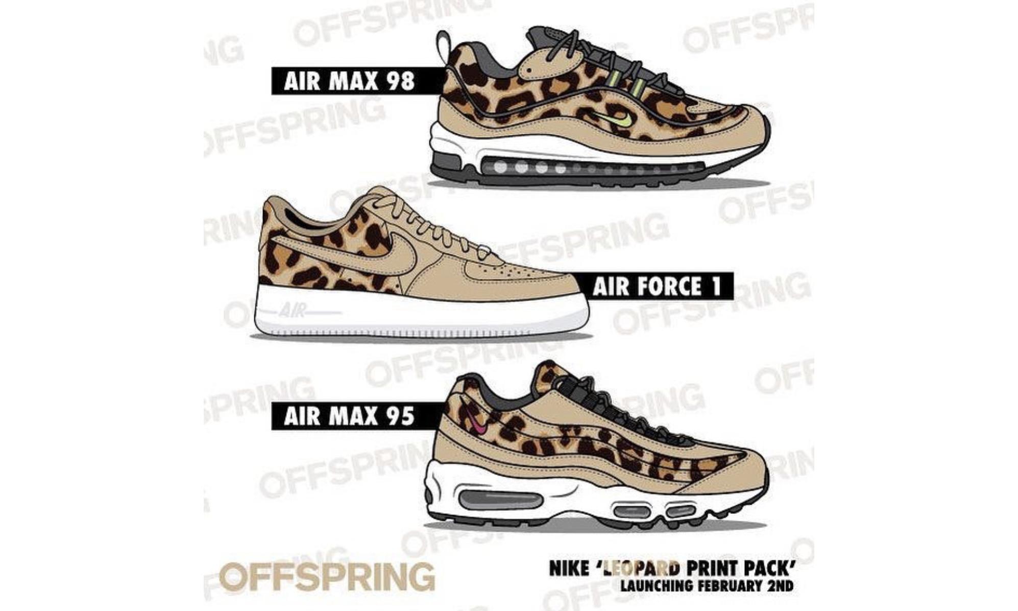 抢先预览 Nike 全新豹纹鞋款系列
