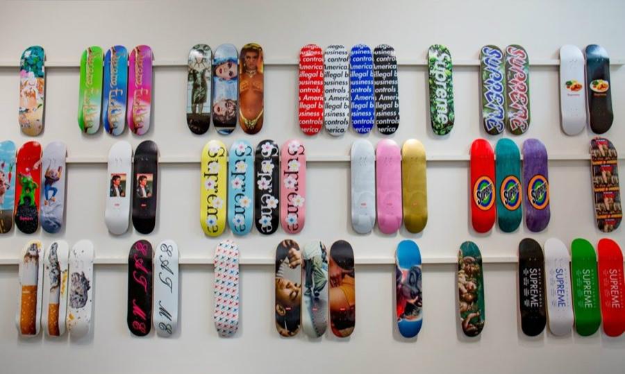 Supreme 全套滑板收藏即将进行拍卖