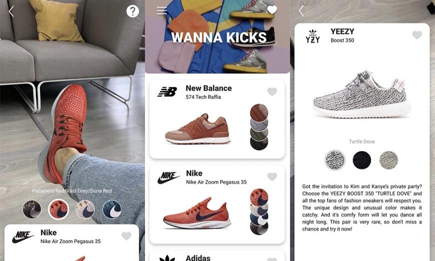 网购的球鞋不适合自己?Wanna Kicks 虚拟试鞋 App 帮你解决烦恼