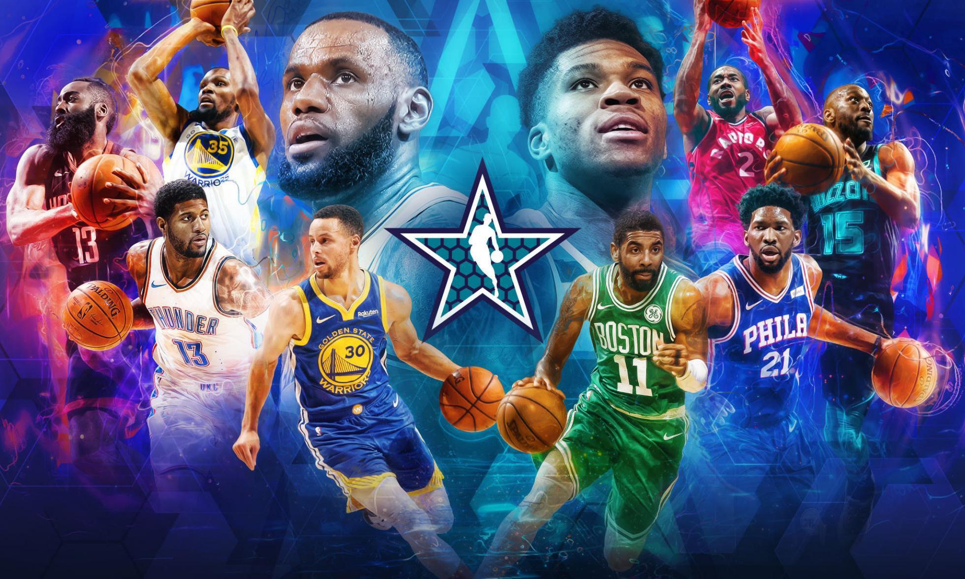 NBA 2019 全明星赛先发名单公布,罗斯与东契奇遗憾落选