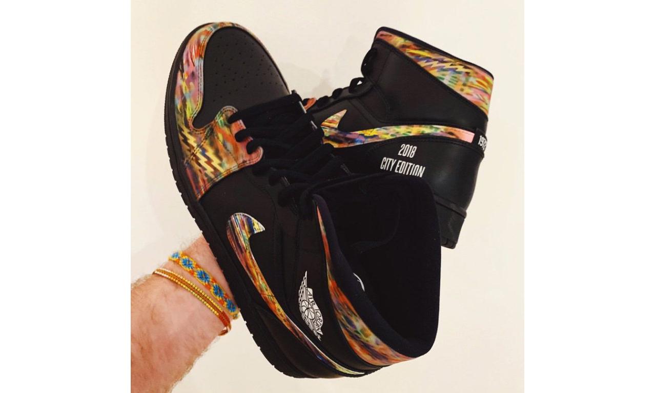 布鲁克林网队 2019 城市限定 Air Jordan I 向 Biggie 致敬
